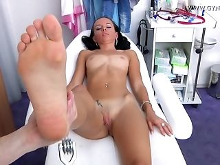 Highly lean school chick Comes To total gynecology check-up best porn