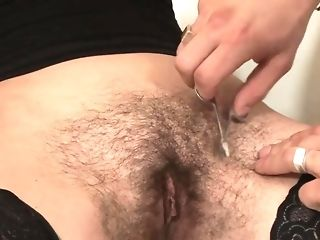 Stud sacking unshaved girl from behind while she report then trims her labia free sex
