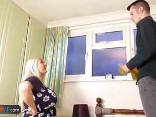 AgedLovE Elderly Chesty Aureate Grandmothers Lacey Hard-Core