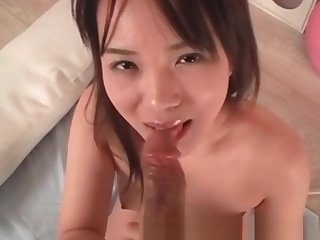Uncensored Japanese Porn Teen AV idol riding cock