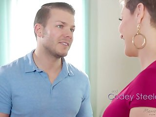 Jaw dropping milf Ryan Keely is fucked by hot blooded masseur Codey Steel
