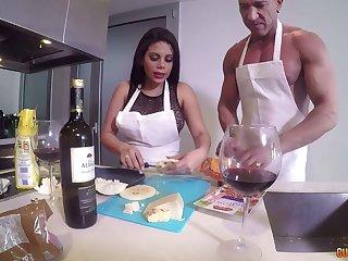 Lewd Venezuelan bitch Kesha Ortega takes part in crazy threesome sex