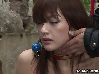 Ardent bondage slut from Japan Sayo Hayakawa gets poked missionary