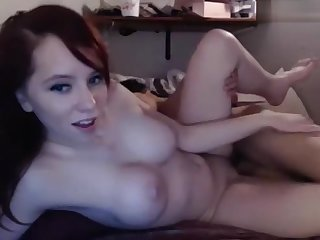Redhead amateur Milf homemade action with cumshot