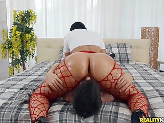 Big ass Latina riding his face and his fat dick