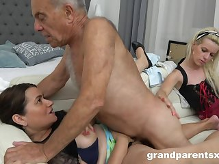 A Hotness Kinky Young Housemaid Fucks Old  - Old and Young