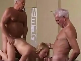 Vintage Old Young Teenie Girl Fucked White Hair Grandpas - watch more on adultx.club