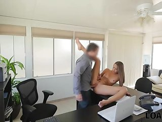 Hot sex with fully naked girl on the table