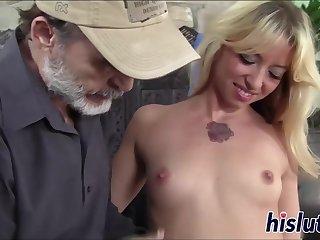 Coed Blond Hair Girl Has Her Vagina Slammed - high-definition