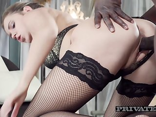 Mary Kalisy Wears Lingerie for Interracial Sex - Private