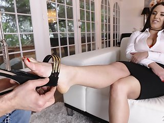 Mouthwatering milfs give a splendid footjob in hot compilation video by 21 Sextury