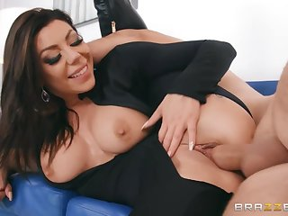 Karma Rx bonces up and down on the big cock of Keiran Lee
