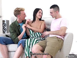 Kinky dude shares girlfriend Kris the Foxx with his best friend