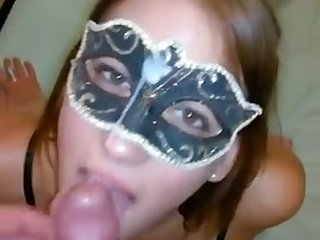 This masked French hooker loves giving head and facials