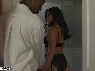 Thick like a Hentai girl Kendra Spade takes on a big black cock