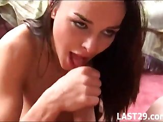 Hardcore copulation for squirting beauty