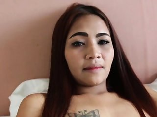 POV oral sex for a cute redhead Asian babe!
