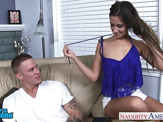 Emotional naturally stuck cowgirl Cassidy Klein is poked from behind