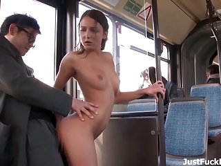 Fit Petite Teen Gets Fucked On The Bus - Public