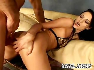Horny dark haired army stunner Victoria Sin fingerblasting her wondrous booty