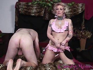 Candy Monroe cuckolds her man to fuck a big black cock