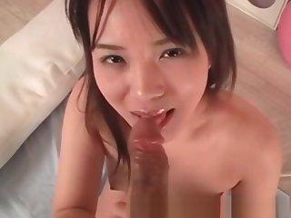 Uncensored Japanese Porn Teen AV idol riding cock