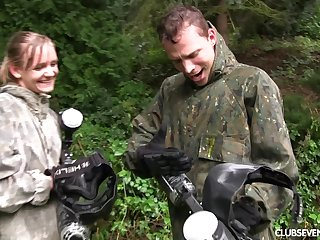 Awesome Lucette Nice got talked into screwing with a friend outdoors